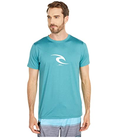 Rip Curl Icon Short Sleeve UV Tee (Teal) Men