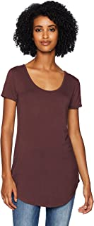 Amazon Brand - Daily Ritual Women's Jersey Short-Sleeve Scoop-Neck Longline T-Shirt