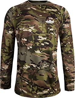 Men Camouflage T-Shirt Long Sleeve Casual Loose Top Crew Neck Blouse for Teen Plus Size