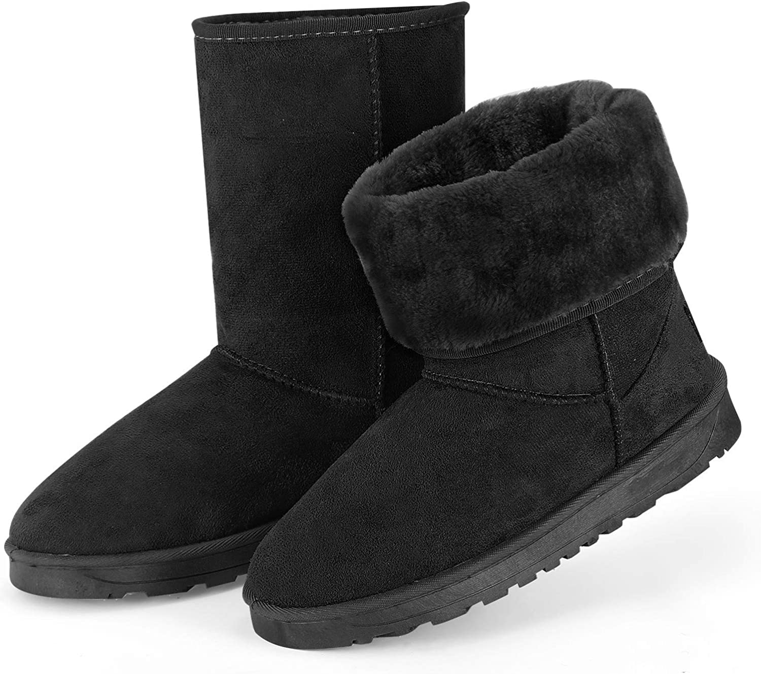 Max 54% OFF TeqHome Winter Ranking TOP2 Boots for Women Classic Mid-Calf Warm Snow