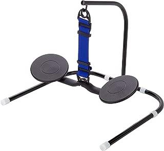 SitFlow Portable - Under Desk Leg Swing, Sitting Exercise, Office Workout (Black & Blue Straps)