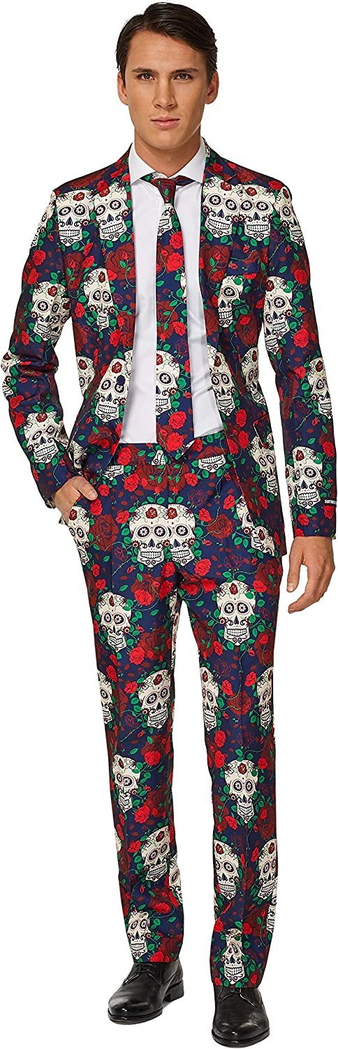 Suitmeister Day of The Dead Max 76% OFF Suit Weekly update Men's Size Tie Set 52 and