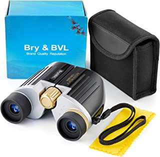 Kids Binoculars for Bird Watching – Spy Gear for Kids – Compact, Shockproof – 8X22 Binoculars for Kids, Waterproof – Best Gift for Boys, Adults – HIGH Resolution – Real Optics for Outdoor Games(Black)