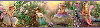 Chesapeake BBC94082B Esmeralda Fairyland Portrait Wallpaper Border, Purple
