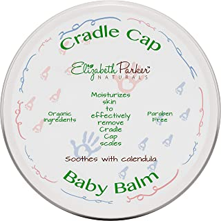 Organic Cradle Cap Baby Balm Dry Scalp Treatment With Manuka Honey - Calendula Oil - Beeswax - Infant Seborrheic Dermatitis - Baby Eczema Relief - Itch and Rash Cream - Paraben Free (2 oz)