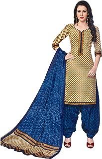 FashionRiti Women's Cotton Printed Straight Stitched Salwar Suit Set (R-5571)