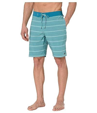 Quiksilver Waterman Angler Stripe 20 Beachshorts (Still Water) Men