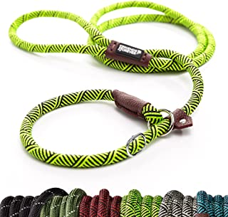 Friends Forever Extremely Durable Dog Slip Rope Leash Premium Quality Mountain Climbing Lead Strong Sturdy Support Pull fo...