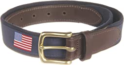Vineyard Vines - American Flags Canvas Club Belt