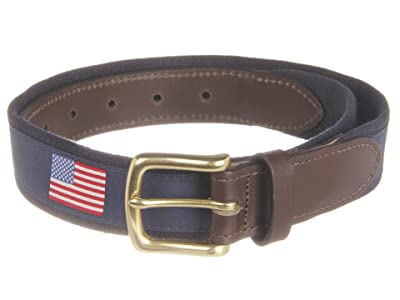 Vineyard Vines American Flags Canvas Club Belt (Navy) Men