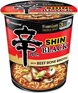 Nongshim Shin Ramyun Black with Premium Beef Broth, 2.64 Ounce (Pack of 6)