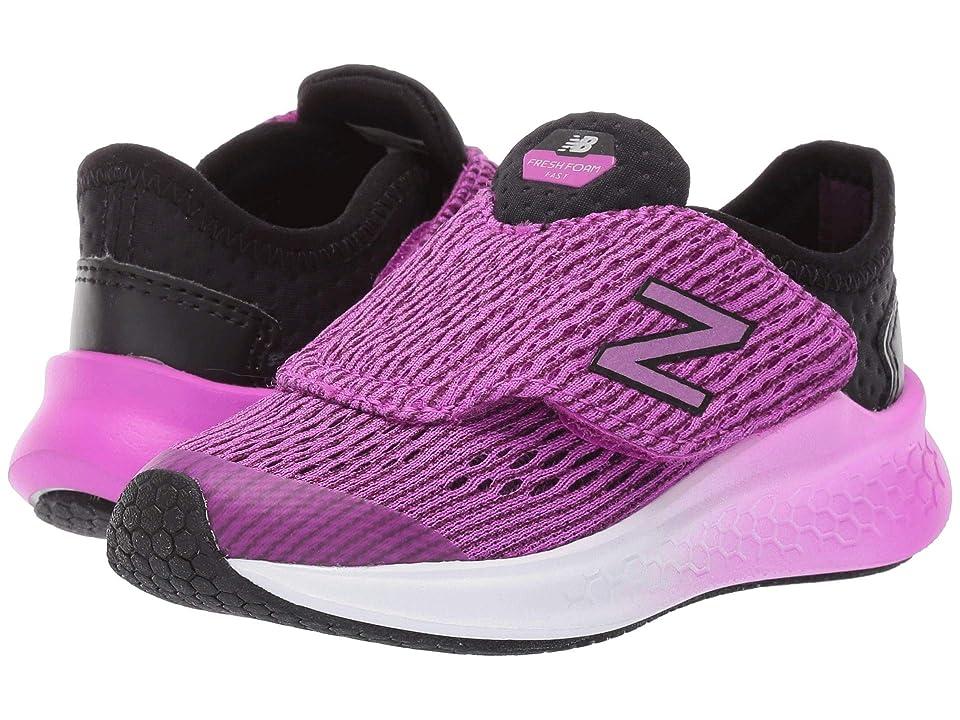 New Balance Kids Fresh Foam Fast (Infant/Toddler) (Black/Voltage Violet) Girls Shoes
