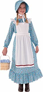 Forum Novelties Girls Pioneer Costume, Blue, Large