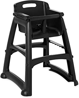 Rubbermaid Commercial Products Sturdy High-Chair for Child/Baby/Toddler, Unassembled, Black (FG781408BLA)