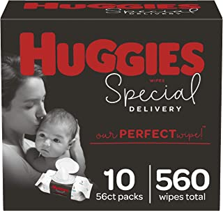 Baby Wipes, Huggies Special Delivery, UNSCENTED, Hypoallergenic, 10 Flip-Top Packs, 560 Count