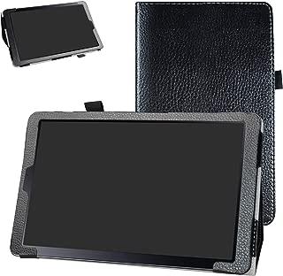 Samsung Galaxy Tab A 10.5 2018 Case,Bige PU Leather Folio 2-Folding Stand Cover for Samsung Galaxy Tab A 10.5 Inch Model SM-T590/ T595 2018 Release,Black