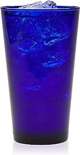 Libbey Cobalt Flare Tumbler Glasses, Set of 8 (Renewed)