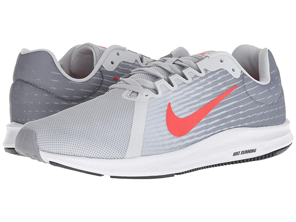 Nike Downshifter 8 (Pure Platinum/Habanero Red/Stealth/Black) Men