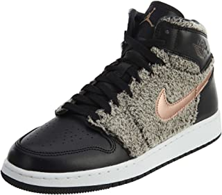 Jordan Air 1 Retro High GG Big Kids Shoes Black/Metallic Bronze/White 332148-022 (4 M US)