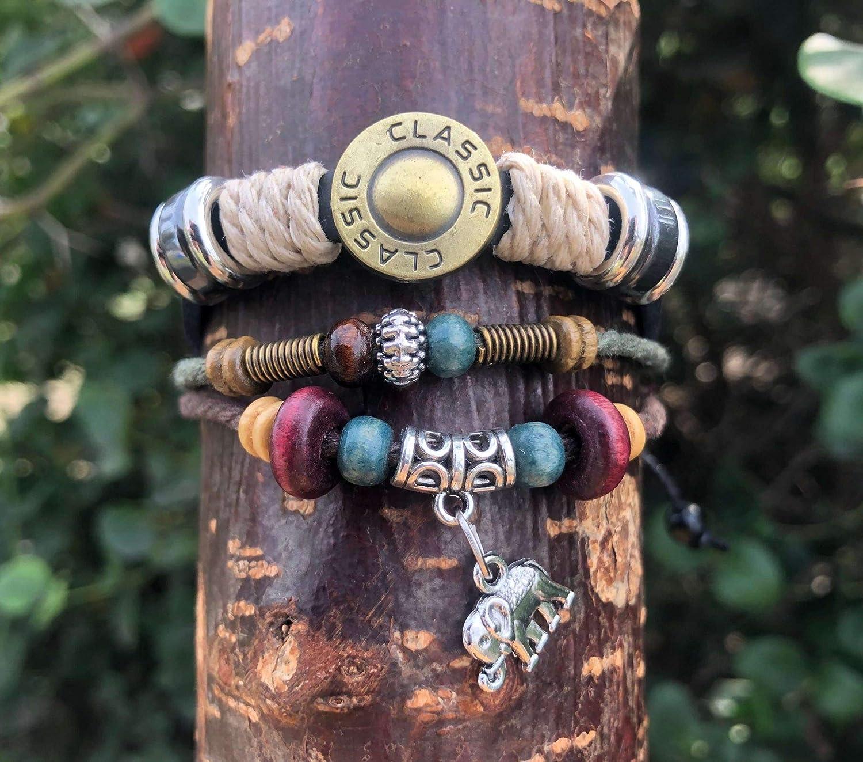Leather Elephant Store Charm Bracelet - Adjsutable Unisex Free Shipping Cheap Bargain Gift