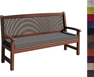 sunnypillow Coussin pour Banc de Jardin 110 x 50 x 5 cm plusieures Tailles et Couleurs à Choisir Assise Confortable pour B...