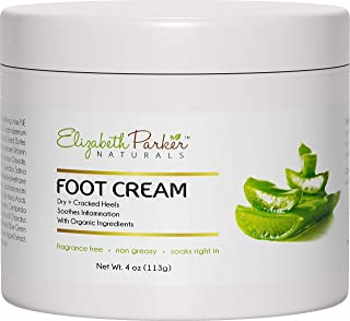Foot Cream for Dry Cracked Feet and Heels - Anti Fungal Cream for Athletes Foot Treatment - Best Callus Remover for Feet with Shea Butter Aloe Vera & Coconut Oil - Fragrance Free & Non Greasy (4 oz)