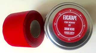 Drum Nerd Eucatape Eucalyptus Infused Rowing Tape for Men & Women – Heals and Protects Hands from Blisters, Better Than Rowing Gloves for Strength & Grip Indoor Machine or Outdoor Sculling Crew