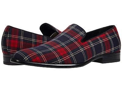 Stacy Adams Steward Plaid Slip-On Loafer (Red Multi) Men