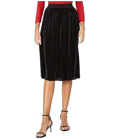 Unique Vintage Sparkle Pleated Susie Skirt (Black) Women