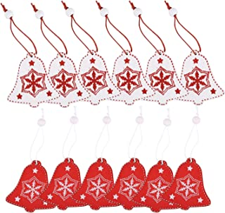 Xmas Cap - 12pcs Xmas Hanging Wooden Ornaments Decorations Red And White - Trees Xmas Ornaments White Decorations Funny Hanging Star Tree Small Shoes Angels Christmas Cake Lighted Operated Ba