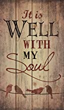 P. Graham Dunn It is Well with My Soul Birds Silhouette Rustic 24 x 14 Wood Pallet Design Wall Art Sign