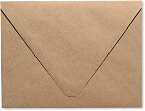 Contour Euro Flap Kraft Grocery Bag Brown 25 Pack A2 - 70lb Envelopes (4 3/8 x 5 3/4) Perfect for RSVP , Invitations, Announcements, Weddings Note Cards by The Envelope Gallery
