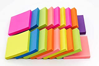 4A Sticky Notes,3 x 3 Inches,Neon Assorted,Self-Stick Notes,100 Sheets/Pad,18 Pads/Box,4A 303x18-N