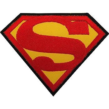 Superman parche hierro/sew en bordado insignia Logo Emblema Símbolo película película Toy: Amazon.es: Hogar