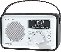 Spitalfields Retro DAB/DAB+ Digital FM Portable Radio/Alarm Clock/Leather Effect Finish/Mains Powered/Rechargable Battery/...