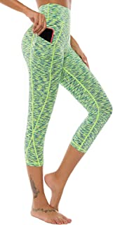 High Waist Yoga Pants Workout Running 4 Way Stretch Out Pocket Yoga Leggings