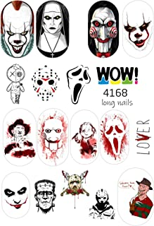 17 Halloween Professional Quality Water Nail Stickers for Your Nail Art Design (Set SL-4168)