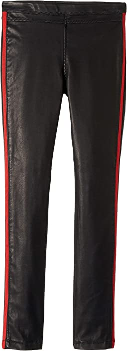 Vegan Leather Pull-On Skinny in Light My Fire (Big Kids)