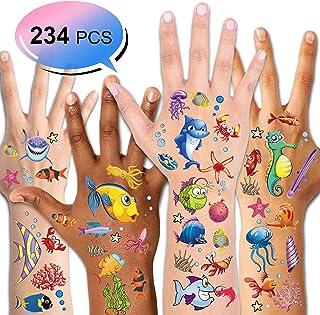 Konsait Tattoo Kinder, Fische Tattoo Set, 234pcs Fische Temp