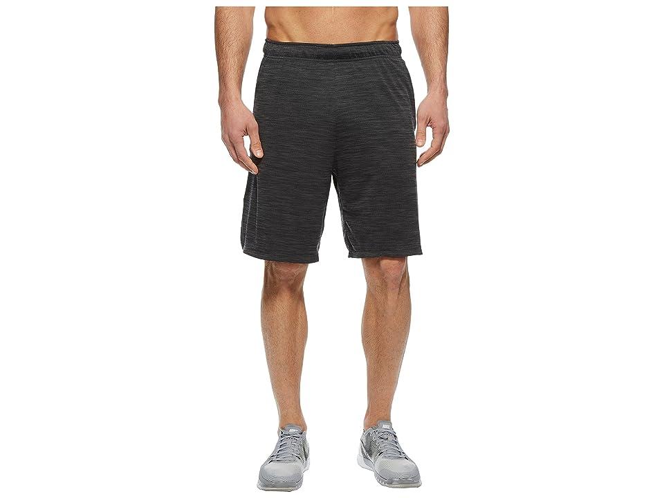 Nike Dri-FIT Heathered 9 Training Short (Black/Metallic Hematite) Men