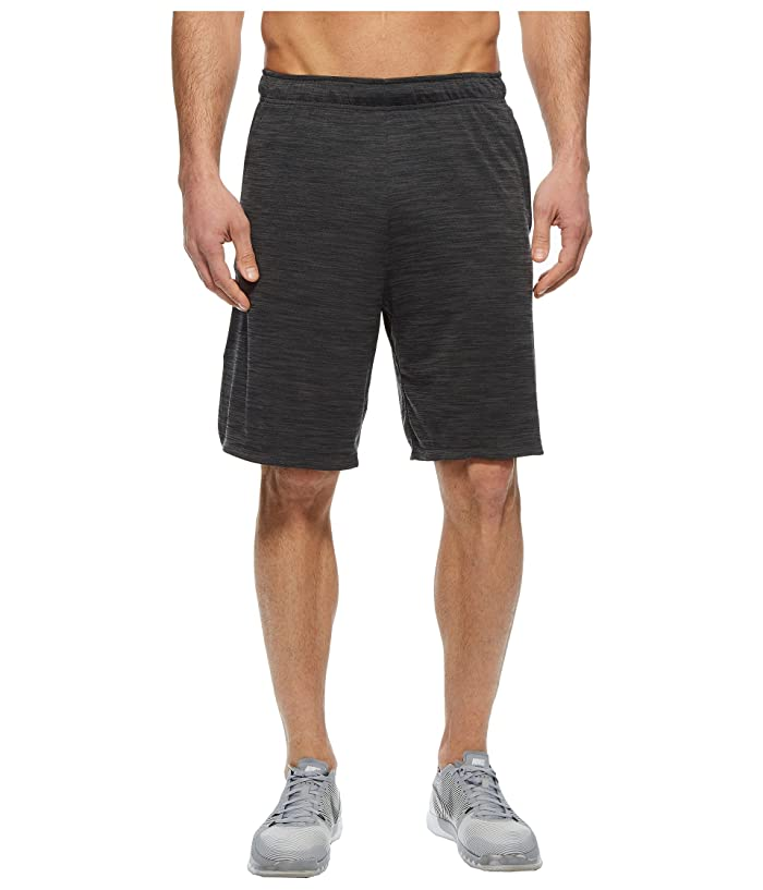 Nike Dri-FIT Heathered 9 Training Short (Black/Metallic Hematite) Men