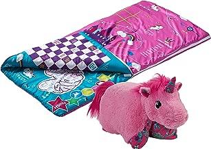 Pillow Pets SlumberPlay Pink Unicorn Sleeping Bag with 15 Games Printed on Bag and Pink Unicorn Combo
