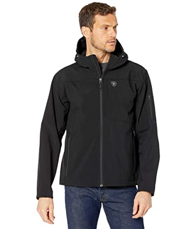 Ariat Vernon Hooded Softshell Water Resistant Jacket (Black) Men