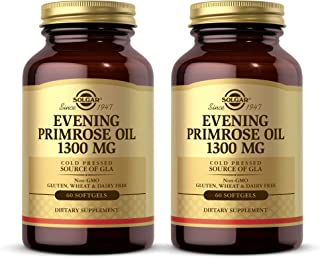Solgar Evening Primrose Oil 1300 mg, 60 Softgels - Pack of 2 - Promotes Healthy Skin & Cardiovascular Health - Nutritional...