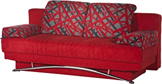 ISTIKBAL Multifunctional FANTASY Collection (Futon Sofa/Queen Size Sleeper) STORY RED