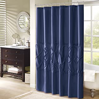 Comfort Spaces – Cavoy Shower Curtain – Navy – Tufted Pattern - 72x72 inches