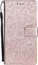Gray Plaid Samsung Galaxy C9 Pro Case,Embossed Sun Pattern PU Leather Wallet Flip Case Cover with Stand Function/Card Slots/Magnet Closure for Samsung Galaxy C9 Pro - Pink