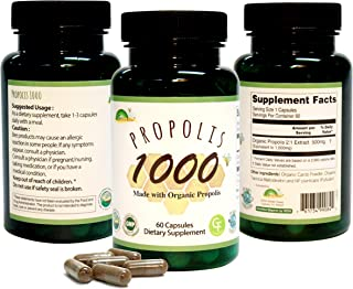 GREENBOW Propolis 1000mg_Made with Organic Propolis_60 Capsules