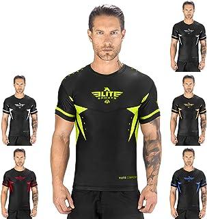 Elite Sports Star Short Sleeve Compression, MMA, BJJ, No-Gi, Cross Training Rash Guard