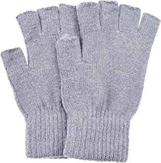 SUNNYTREE Women's Fingerless Gloves Knit Cashmere Warm Winter